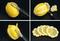 #Tips Pela los limones de forma divertida, perfecto para decorar tragos