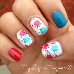 My Life in Turquoise: Tri Polish Challenge - may #1 - Splish Splash