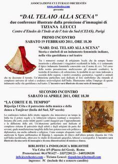 ASSOCIAZIONE CULTURALE ORCHESTÉS │ DANZA CLASSICA INDIANA: Tiziana Leucci │ Conferenze a Roma, 2011