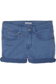 burberry brit {mid-rise stretch-denim shorts}