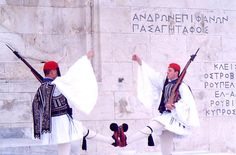 Greek soldiers at the Tomb of the Unknown Soldier http://bit.ly/1uqg3Ia