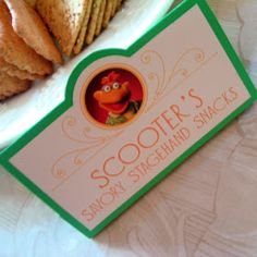 Muppets party food labels and ideas