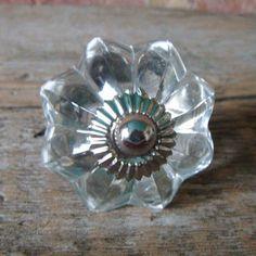 Clear Glass Cupboard Drawer Knob Cabinet Knobs 4 Design | eBay