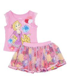 Look what I found on #zulily! Purple Disney Princess Rapunzel Tank & Skirt - Toddler & Girls #zulilyfinds