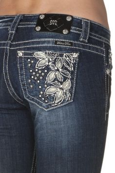 miss me jeans   miss me flower with studs jp5858b bootcut jean $ 98 00