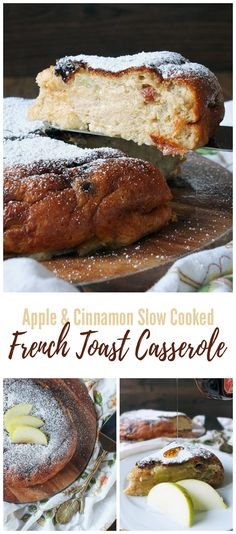 Apple & Cinnamon French Toast Casserole For those lazy Sunday brunches. A Redmond Multicooker recipe, but could easily be made in the oven. Best Brunch Recipes, Dessert Recipes, Favorite Recipes, Breakfast Recipes, Apple Desserts, Make Ahead Breakfast Casserole, French Toast Casserole, Cinnamon French Toast, Cinnamon Apples