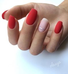 red prom nail polish trends that are in action this year . , Eye-catching red prom nail polish trends that are in action this year . , Eye-catching red prom nail polish trends that are in action this year . , 40 Red Nails Ideas to Try This Year Minimalist Nails, Red Nail Art, Cool Nail Art, Nail Polish Trends, Nail Polish Colors, Gel Polish, Accent Nails, Cute Nails, Pretty Nails