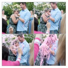 Baby Tucker Gender Reveal Party.  Silly String Gender Revealing and Safari Theme.  It's a girl!  September, 2013