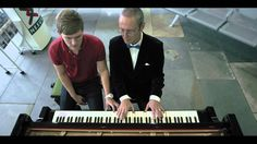 Wow amazing !  Bus Station Sonata  'Commuters play Beethoven on piano with pianist'