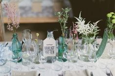 Sweden Apple Orchard Wedding: Therese + Oskar-Ture--so much vintage glassware