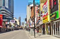 Downtown Toronto, Times Square, Travel, Viajes, Destinations, Traveling, Trips