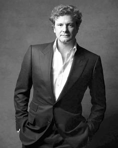 COLIN FIRTH Colin Firth, British Men, Birthday Gifts For Boyfriend, Pride And Prejudice, Gentleman, Cinema, Handsome, Mens Fashion, Black And White