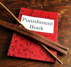 Old school punishment, spanking, cane, tawese, ruler etc