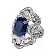 #orlovjewelry a 12 ct royal blue sapphire ring set with white diamonds #ORLOV #jewelry