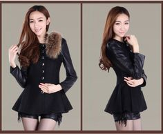 Cheap Korean fashion high quality women's single-breasted wool woolen coat woolen jacket in Wool & Blends from women clothing on sightface.c...