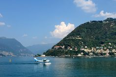 Lake Como (Italy) is heavily used by all kinds of boats, but also by Aero Club Como. Small planes continuously fly off. Instead of using an airstrip the planes take off from the lake.
