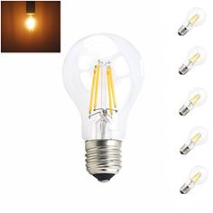 From 15.33 Bonlux 5-pack 4w A60 E27 Es Led Classic Filament Bulbs Warm White 2700k A19 Gls Screw Led Antique Light Bulb 40w Incandescent Replacement (non-dimmable)
