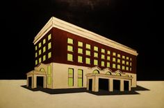 Union Station - Acrylic on Canvas Now a part of Minute Maid stadium, where the Astros play