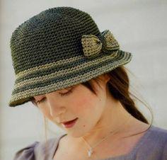 Horgolt mintagyűjtemény: Zöld kalap