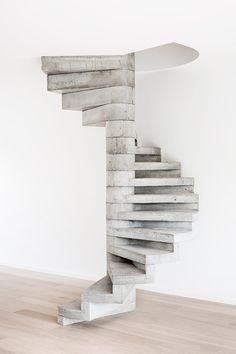 Beautiful concrete stairs by AID Architecten