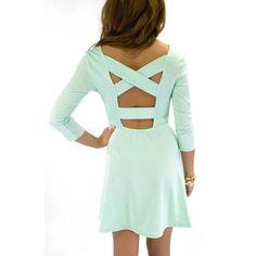 sofiesof's save of Pasadena Mint Cross Back Dress on Wanelo