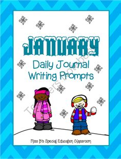 January Writing Prompts from Miss B's Special Education Classroom on TeachersNotebook.com -  (155 pages)  - 32 Writing Prompts!! Each prompt comes with a thinking map, rough draft forms, Peer Editing Checklist and a final draft form.