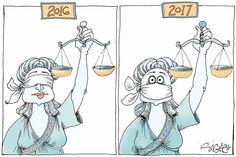 Soooo familiar ---  =Trump's kakistocracy AND FAMILY LAW / CUSTODY COURTS for mamas  daily Signe W cartoon 02/01/17