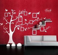 Family Tree Wall Decal  20% OFF - Use Code FREE20 for 20% off the large sized decal. Color: Black, Brown or White  Material: Vinyl  Dimensions: Medium - 43 x 35 in Large - 98.5 x 71 in  The family tree wall decal can be applied to any smooth clean surface and will not harm your paint. When you get tired of it just peel it off!  Comes in multiple pieces for easy installation. All orders will include an easy to follow application instructions sheet.  SATISFACTION GUARANTEE - If you have any…