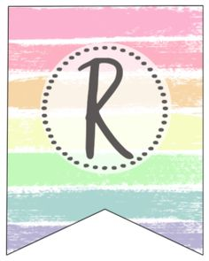 Free Printable Pastel Banner Letters | Paper Trail Design