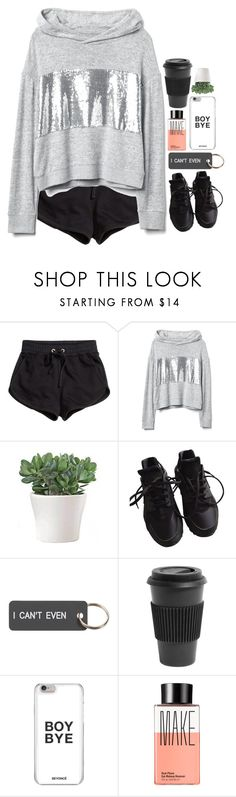 """reality"" by emilypondng ❤ liked on Polyvore featuring H&M, NIKE, Various Projects, Homage and Make"