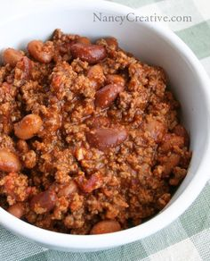 Super thick, hearty chili II @ NancyCreative.com