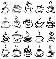 coffee drawing Hand drawn coffee cup vector by on VectorStock Coffee Cup Tattoo, Coffee Cup Drawing, Coffee Cup Art, Coffee Cup Holder, Coffee Cup Design, Coffee Tattoos, Coffee To Go, Ceramic Coffee Cups, Coffee Painting
