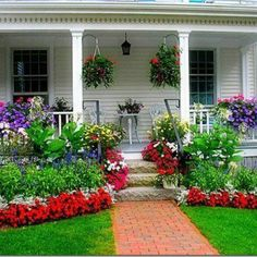 Can be done in any climate. Petunia, dusty miller, salvia and geranium make this easy in most climates