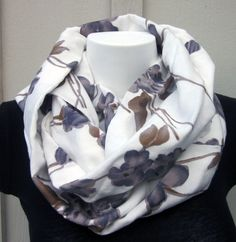 Floral Scarf Infinity Scarf Floral Scarf by DiscoLemonadeDesigns, $19.99