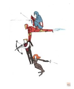 Solving the problem of non-flight-capable heroes. By Noelle Stevenson a.k.a. Ginger Haze.