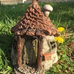 Gnome's Get-Away w/hinged door Limited Edition: Fairy Garden Miniature House - Baby Feathers Gift Shop   $ 26.00