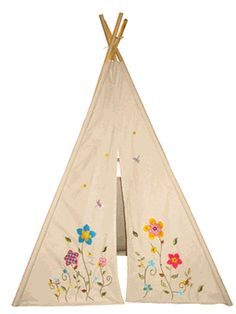 6ft Flower Blossom Girls Teepee by Dexton Kids