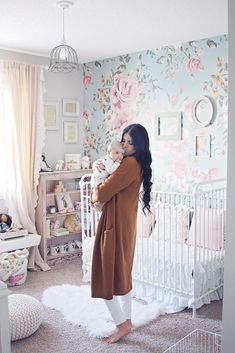 Vintage Nursery Inspo Bebek Odası – Home Decoration Baby Bedroom, Nursery Room, Girl Nursery, Girls Bedroom, Nursery Themes, Nursery Ideas, Vintage Nursery, Room To Grow, Big Girl Rooms