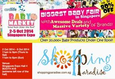 Shopping Paradise: Join us at Baby Market this weekend 2 - 5 October . Baby Fair, How Big Is Baby, October 2014, Of Brand, Paradise, Events, Marketing, Shopping, Heaven