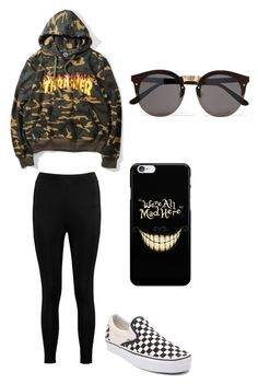 """""""Untitled #138"""" by vintage6739 on Polyvore featuring Vans, Boohoo and Illesteva"""
