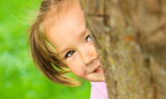 Little girl is playing hide and seek outdoors Stock Photo Medical Illustration, Cute Little Girls, Perfect Photo, Royalty Free Photos, Art Images, Clip Art, Stock Photos, Outdoor, Taehyung