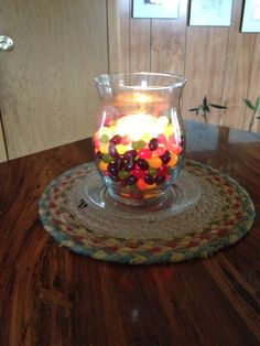 Jelly bean candle glow