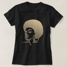 Natural Hair T-Shirt #afro #blackgirlmagic #afrocentric #naturalhair #blackhair