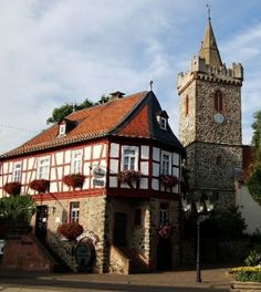 Inspirational Bruchk bel Germany My parents married in both the courthouse in front and in Jakobskirche St James Lutheran Church whose tower was built in the