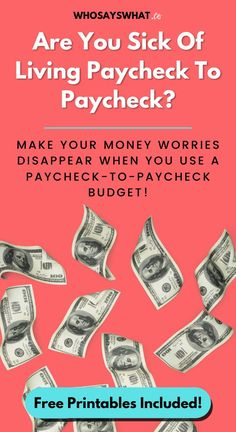When you live paycheck to paycheck, money is the enemy.  But if you embrace a budget by paycheck system, you'll be able to afford your lifestyle with ease.  So, click here to get your workbook and guide to set up a budget by paycheck. #budgetbypaycheck #budget #paycheck #money #budgetworkbook Budgeting Finances, Budgeting Tips, Setting Up A Budget, Making A Budget, Living On A Budget, Saving For Retirement, Debt Payoff, Investing Money, Money Management