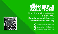 Meeple Solutions Business Card created by Marni G Designs #MarniGDesigns #BusinessCard #BC #MeepleSolutions