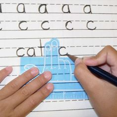 Two-Finger Spacer - Keep just the right space between letters and words using this Two-Finger Spacer. Emerging writers and those with visual or motor challenges can rely on the spacer's arrow for directionality and a ruler for measurement. The se Kindergarten Writing, Teaching Writing, Teaching Tools, Teaching Resources, Literacy, Kids Education, Special Education, Learning Activities, Kids Learning