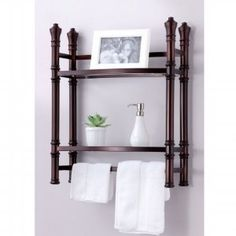 Amazon.com: Best Living Monaco Wall Mount/Countertop Etagere Shelf, Oil Rubbed Bronze: Home & Kitchen