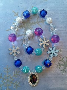 Frozen Anna Stretch Necklace and Bracelet by GraceandGreenBeans, $15.99