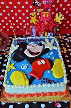 Mickey cake, mickey party, 1st birthday